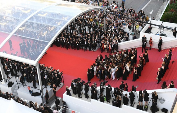 Women's March in Honor of Gender Equality at the Cannes Film Festival on 12 May 2018; photo courtesy of: economictimes.com