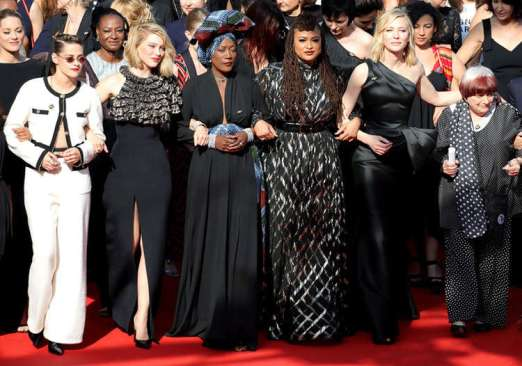 Women's March in Honor of Gender Equality at the Cannes Film Festival on 12 May 2018;photo courtesy of: 1604ent.com