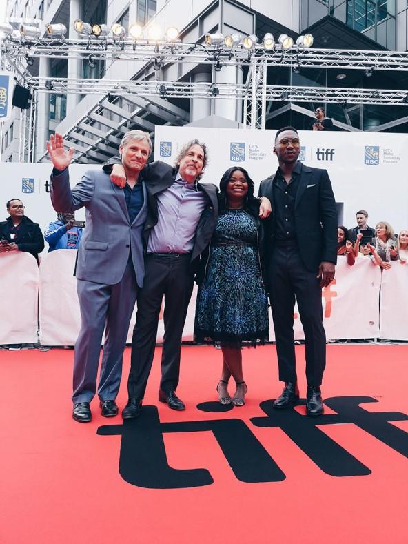 Viggo Mortensen, Peter Farrelly, Octavia Spencer, and Mahershala Ali, Green Book, 11. September 2018, TIFF