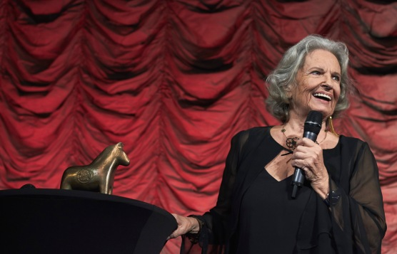 Gunnel Lindblom receiving the Stockholm Achievement Award, at the Stockholm International Film Festival 2018, Stockholm Sweden; Photo Courtesy of stockholmfilmfestival.se and Natalia Luna.